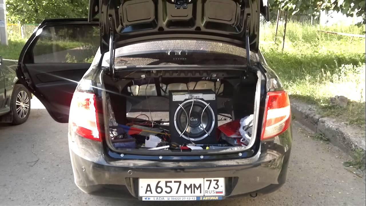Газовый упор багажника Лада Гранта - YouTube
