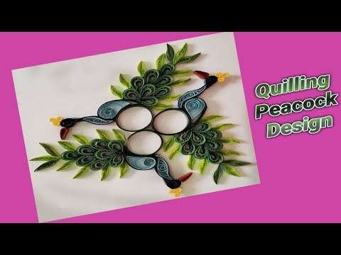 How to Make Paper Quilling Peacock Design | Quilling Design | Siri Art&Craft |