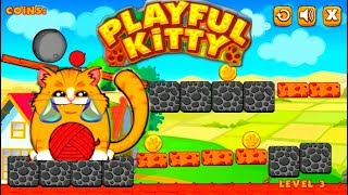 ИГРИВЫЙ КОТЕНОК Мультик Игра 😹 Funny Cartoon Game PLAYFUL KITTY HD #амням #omnom
