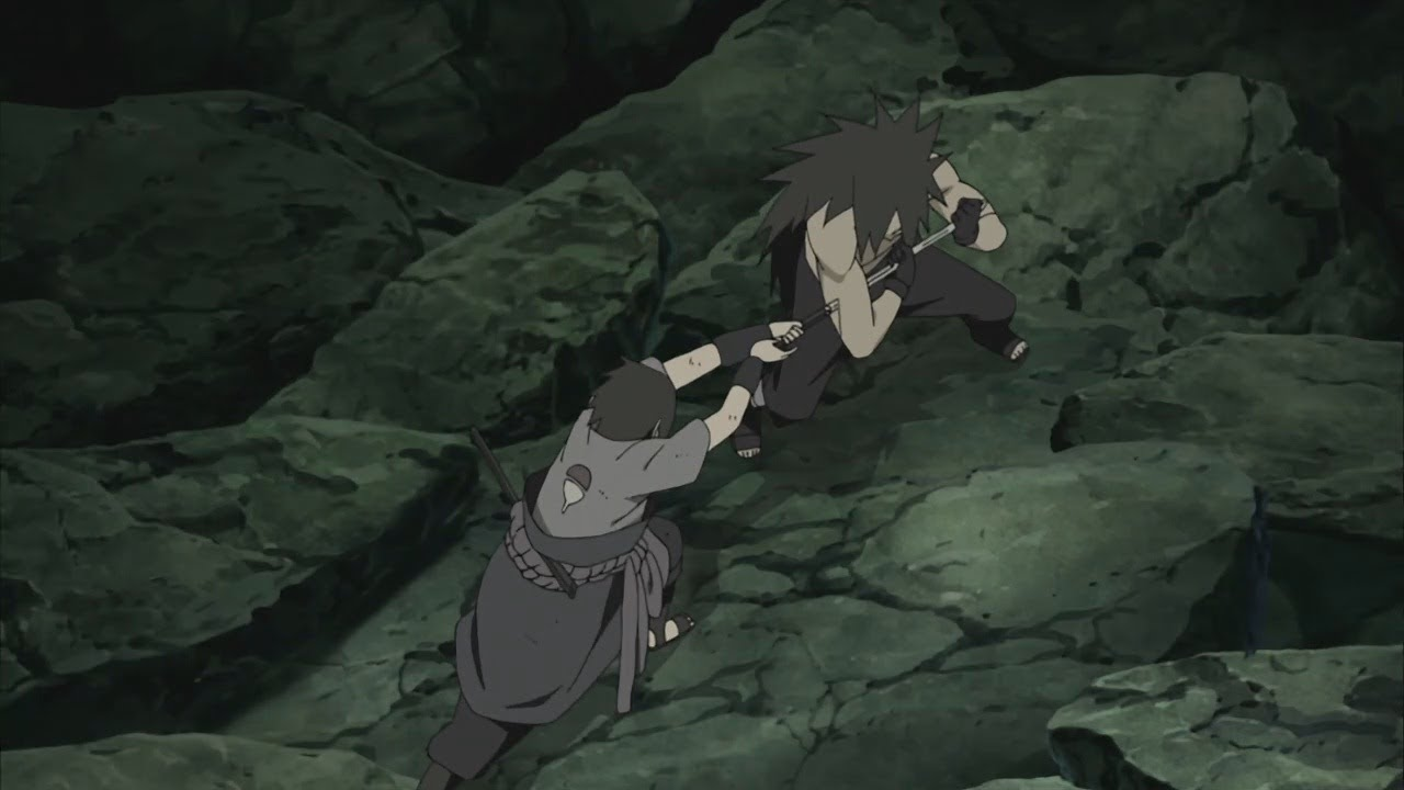 Sasuke se enfrenta contra Madara   Naruto Shippuden   Sub español