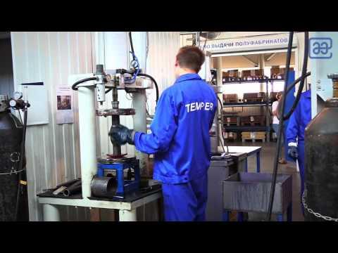 Экскурсия по заводу по производству шаровых кранов ТЕМПЕР в г. Курган (Россия).