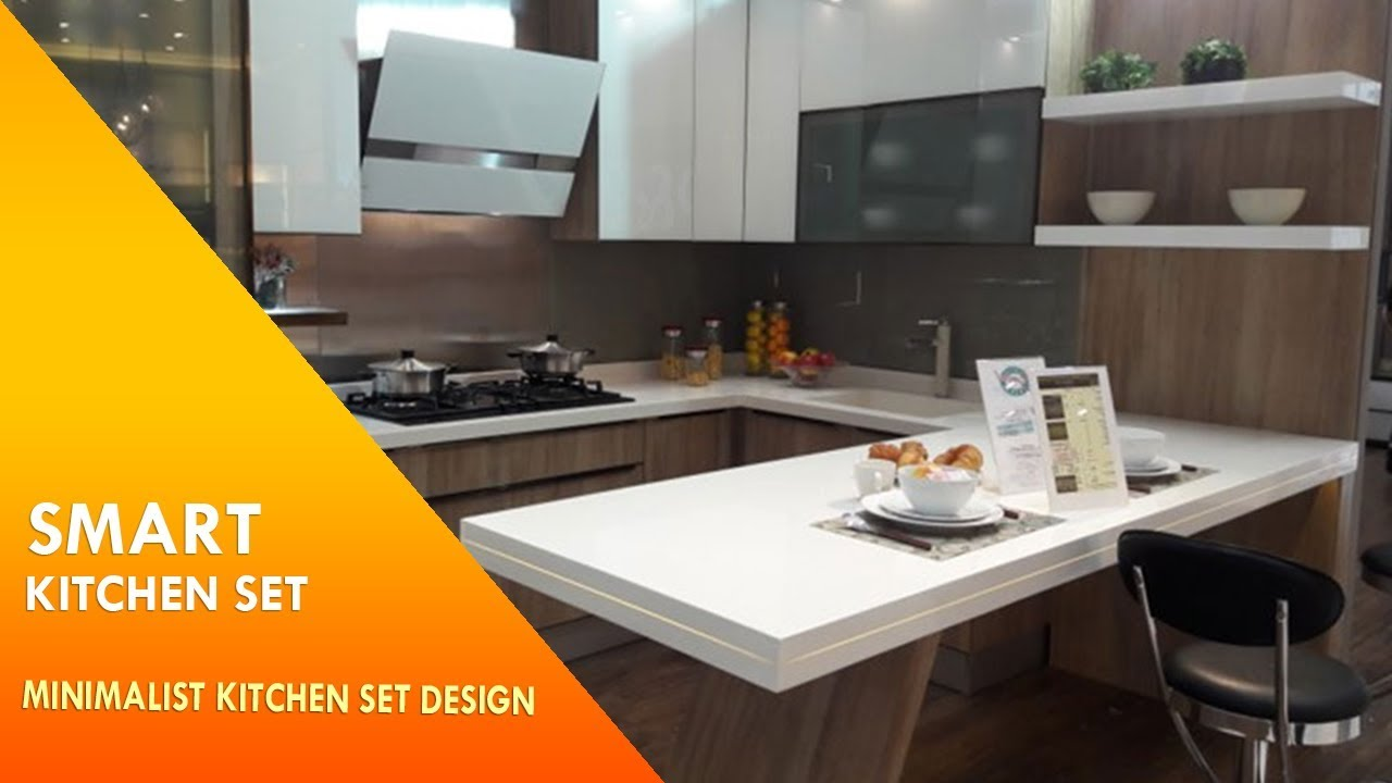 Smart kitchen set minimalist kitchen set design