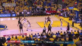 Every Golden State Warriors block in Game 1 vs. Trail Blazers