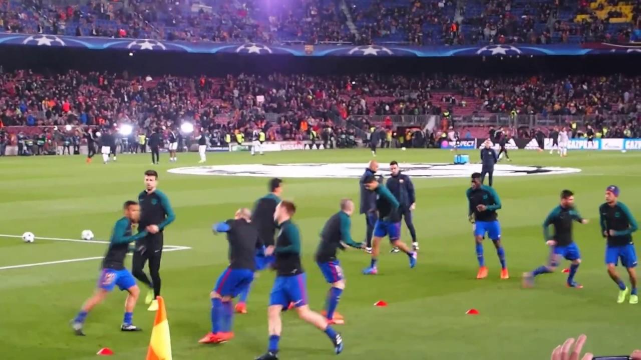 Fc Barcelona Vs Psg  Warm Up A Bit More