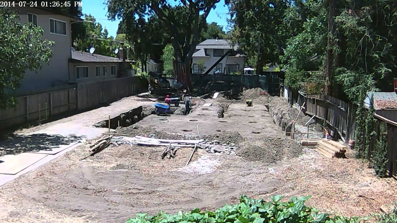 foundation 12 footing point load excavation 20140724 time lapse