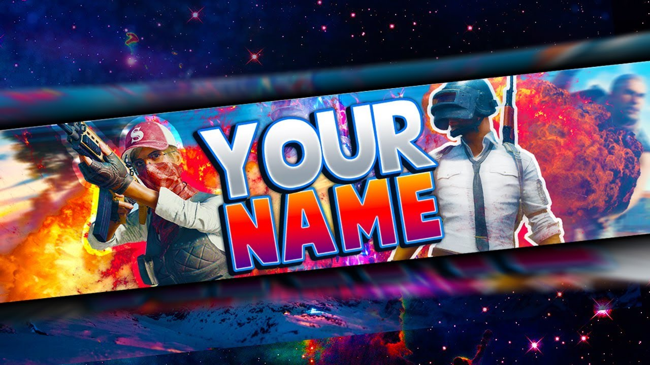 Free Pubg Banner Template Playerunknown S Battlegrounds Youtube