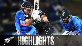 Record Breaking Chase! | FULL HIGHLIGHTS | BLACKCAPS v India - 1st ODI, 2020