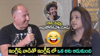 Anchor Suma Super FUN in ENGLISH with Gang Leader Cinematographer |  Filmylooks