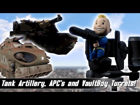 Fallout 4 Mods Week 22 - Tank Artillery, APC's and VaultBoy Turrets