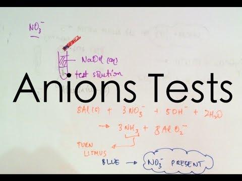 Identifying Anions