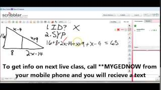 Free Live GED Class - Excerpt from August 9, 2014