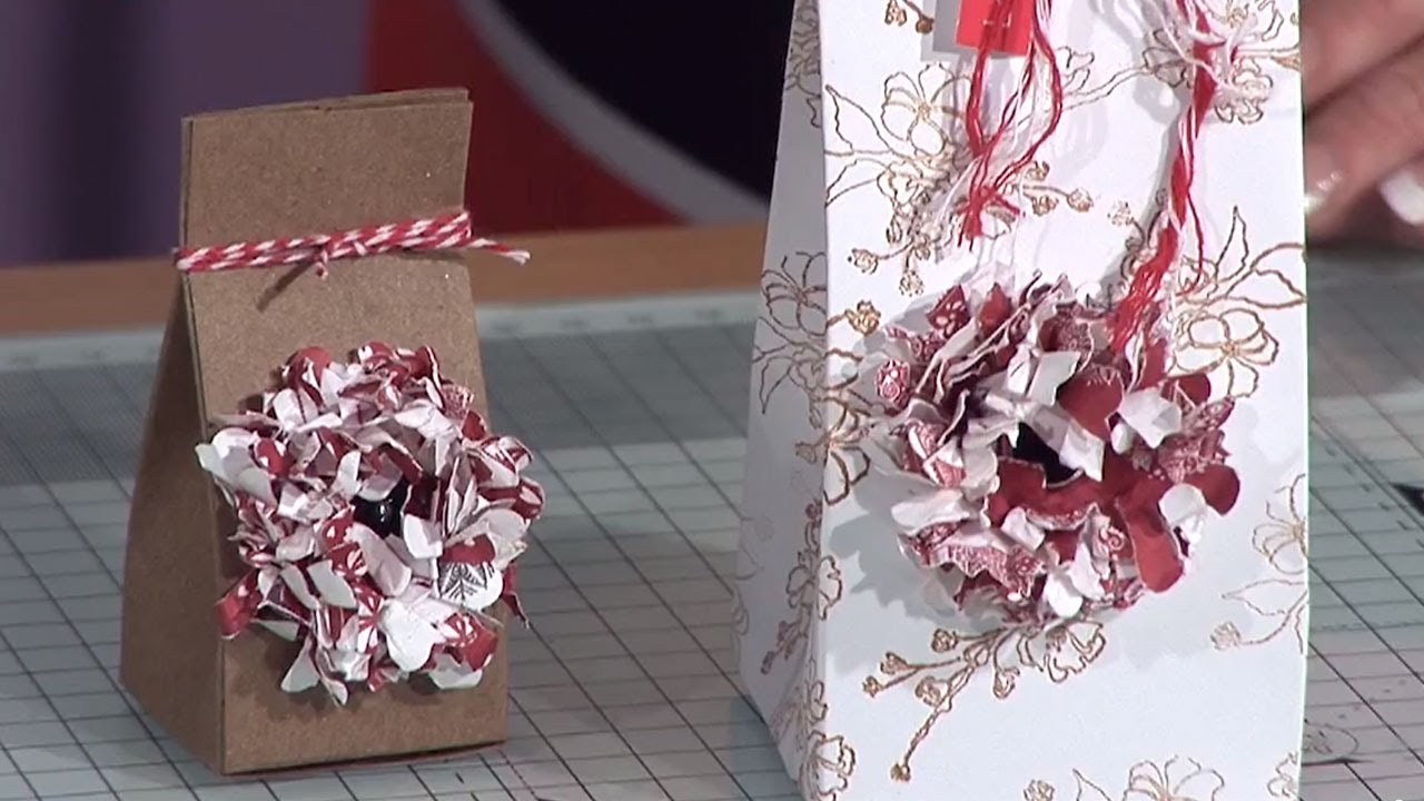 paper flower gift box tutorial