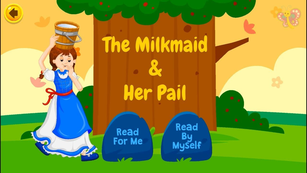 The Milkmaid & Her Pail // Best Short Stories for Kids in English - YouTube