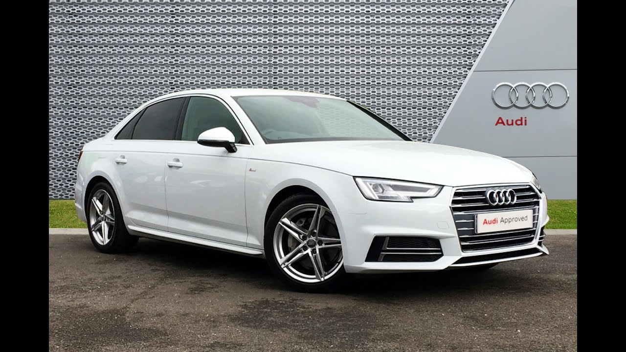 Ra66xng audi a4 tdi s line white 2017 slough audi youtube for S line exterieurpaket a4
