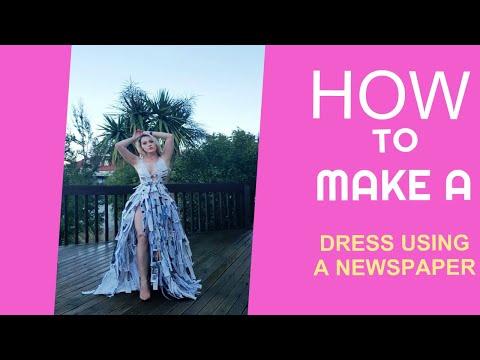 HOW TO MAKE A DRESS USING NEWSPAPER