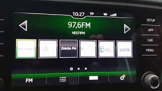 шкода Октавия А7 NEW!!! Обзор Радио Bolero!!! Часть первая