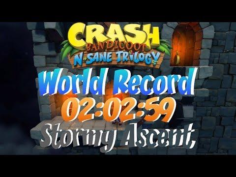 Stormy Ascent Glitched World Record 02:02:59 - Crash Bandicoot N Sane Trilogy