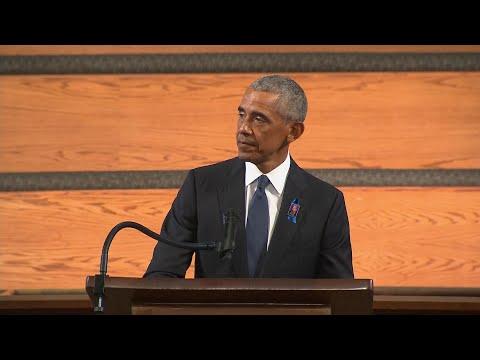 President Obama's Powerful Eulogy At John Lewis' Funeral