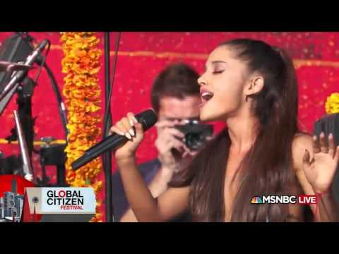 Coldplay & Ariana Grande   Just a Little Bit of Your Heart   MSNBC #GlobalCitizen Festival
