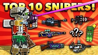 TOP 10 SNIPER WEAPONS! | Pixel Gun 3D [New Update 2019]