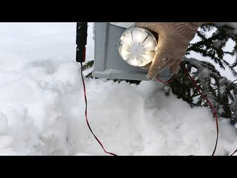 AKWA 12V saltwater power mini-generator in winter
