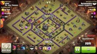 Lava Hound and Lvl 6 Loons 3* TH9
