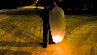 Самодельный небесный фонарик с зажигалкой