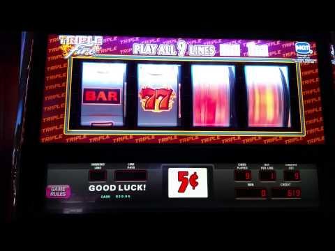Triple Fire slot machine at Empire City casino