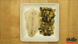Cajun Cod with Sautéed Squash and Zucchini | Skillit Cooking: Simple, Easy Recipes