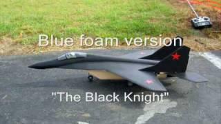 """Scratch Built Mig-29m Dual 55mm Edf Blue Foam """"black Knight"""""""