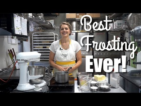 How to make the BEST cake frosting EVER! Italian Meringue Buttercream Recipe