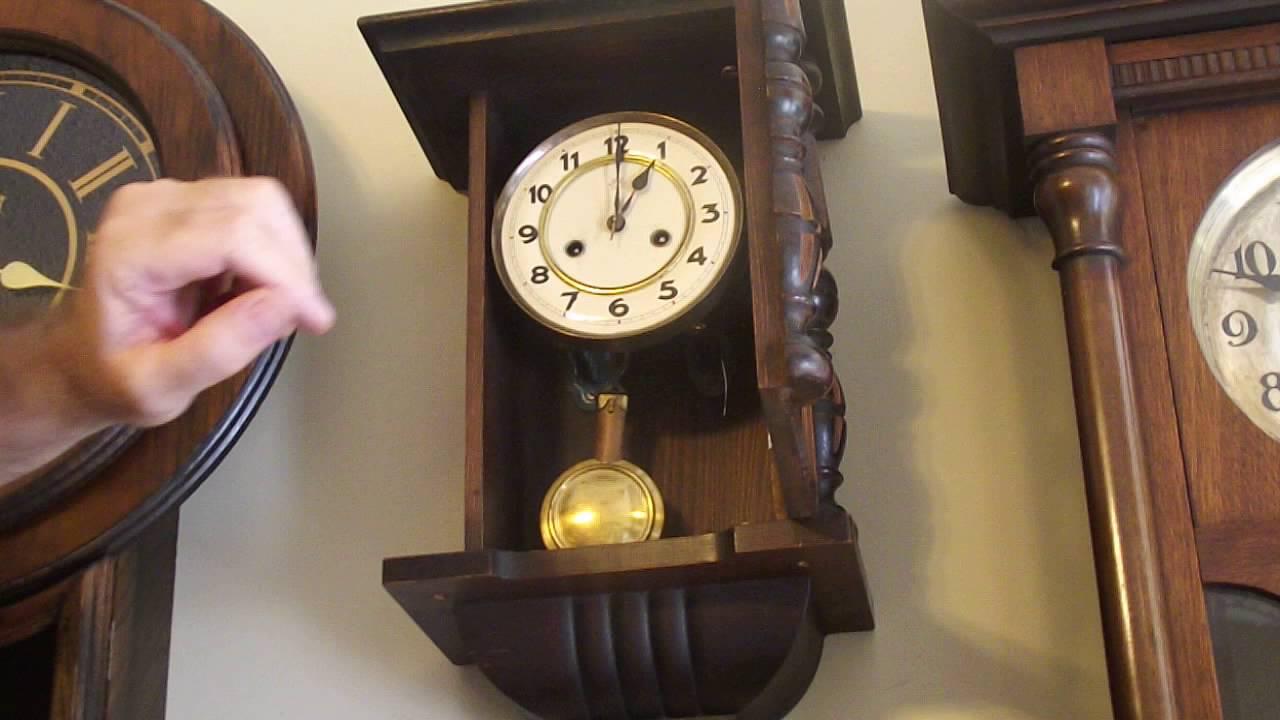 Rare junghans 3 day mini vienna wall clock youtube rare junghans 3 day mini vienna wall clock amipublicfo Choice Image
