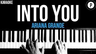 Ariana Grande - Into You Karaoke SLOWER Acoustic Piano Instrumental Cover Lyrics