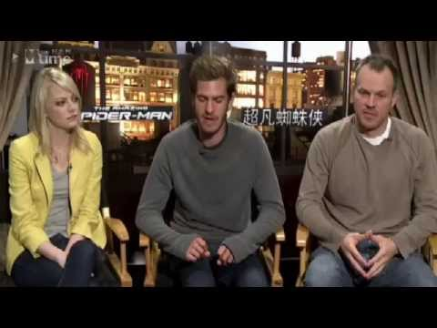 Andrew Garfield and Emma Stone China Fan Chat 2012