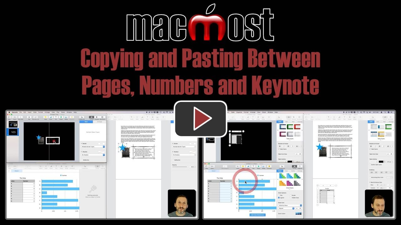 Copying and Pasting Between Pages, Numbers and Keynote (MacMost #1797)