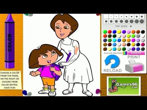 Dora The Explorer Coloring Games - Dora And Mom Coloring Games