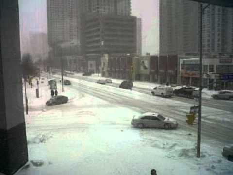 Snow Storm at Yonge and North YOrk!