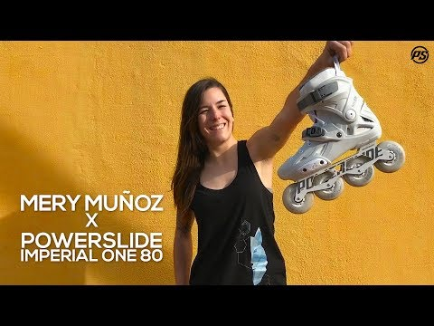 Mery Muñoz X Powerslide Imperial One 80 Granite inline skates - finest female freeskating