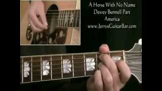How To Play America A Horse With No Name (full lesson - both guitar parts & solo)
