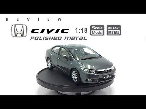 โมเดลรถ HONDA Civic (Polised Metal) ขนาด scale 1:18