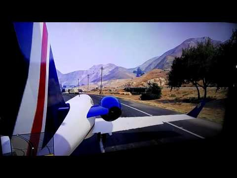 [GTA 5]Airplane travel in the highway