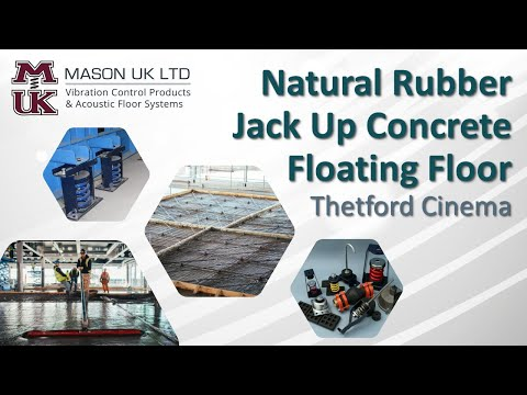 TIMELAPSE | Concrete Floating Floor [Natural Rubber System] | MASON UK LTD – Thetford Cinema