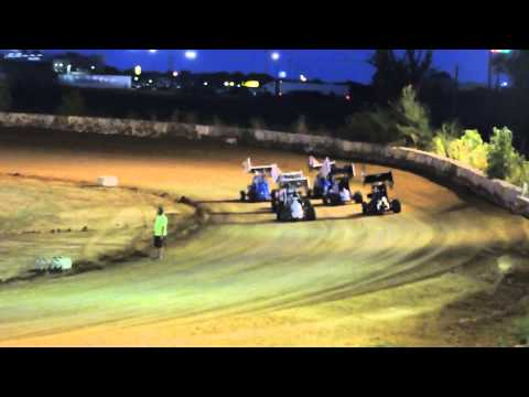 Mid America Lightning Sprints Heat Races at Nevada Speedway 8-09-14