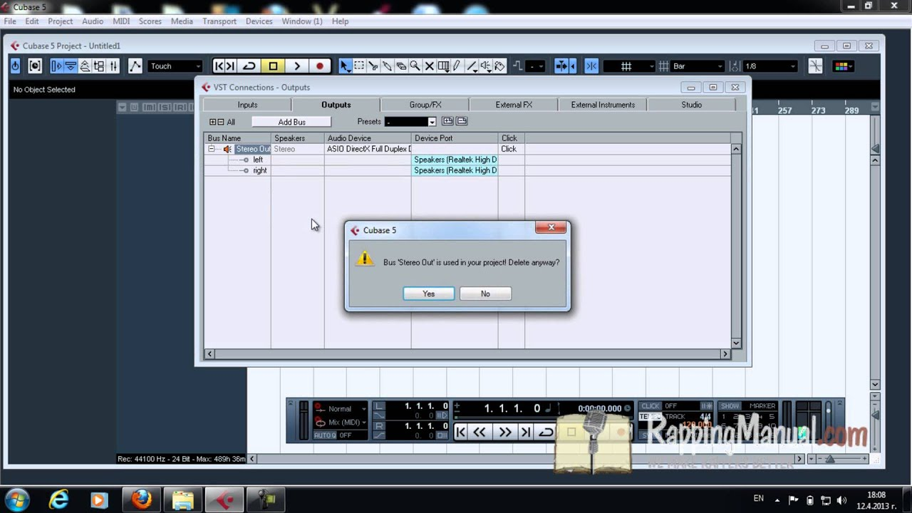 cubase 5 set up and recording vocals for rappers part 1 youtube rh youtube com cubase 5 user manual pdf Cubase 9