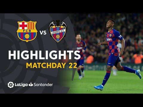 Highlights FC Barcelona vs Levante UD (2-1)