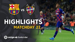 Highlights FC Barcelona vs Levante UD (2-1)
