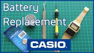 Casio Digital Calculator Databank Watch Battery Replacement DBC-610 DBC-611