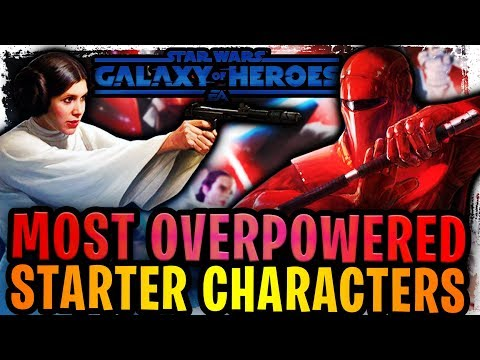 Most Overpowered Starter Characters for New F2P Players in Galaxy of Heroes! Beware of Royal Guard!