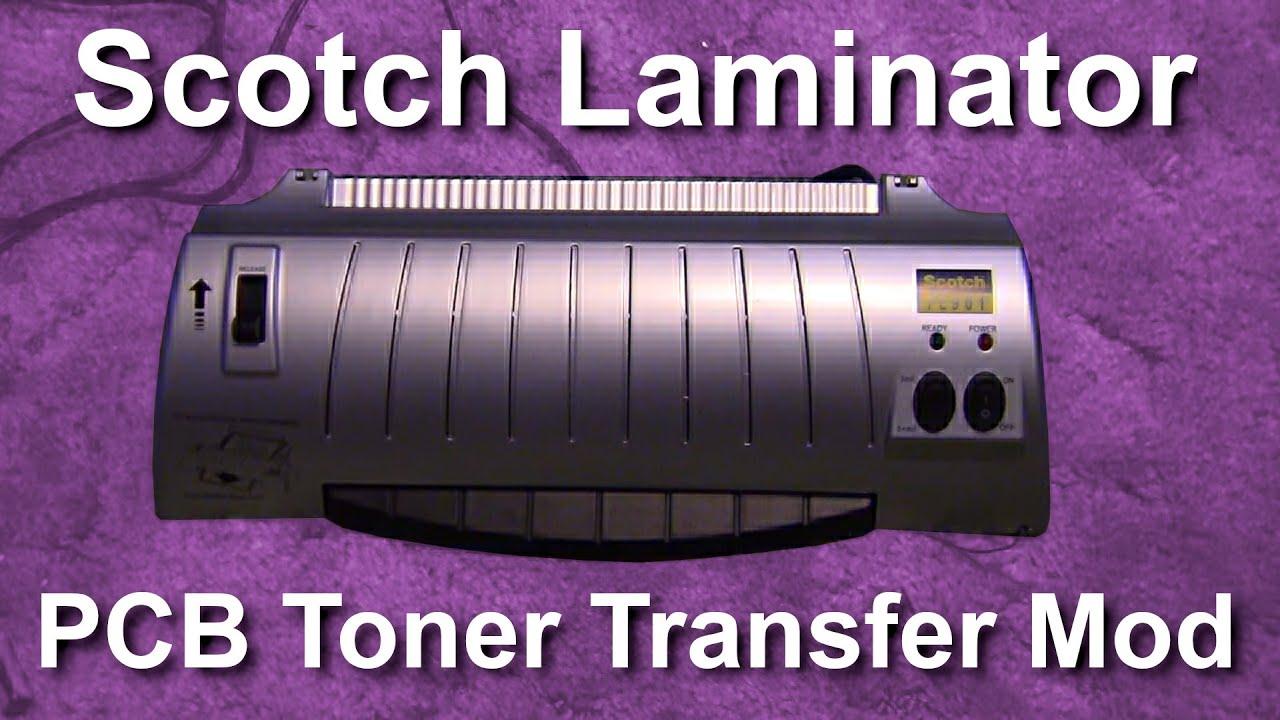 Scotch Tl901 Thermal Laminator Pcb Toner Transfer