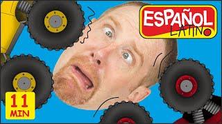 Monster Trucks para Niños + MÁS de Steve and Maggie Español Latino